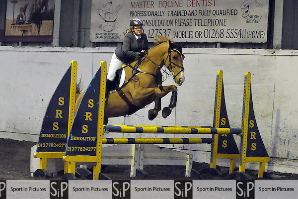Class 4. Cashjumping. Norton Heath Equestrian Centre. Essex. 01/02/2015. MANDATORY Credit Ellie Ingram/Sportinpictures - NO UNAUTHORISED USE - 07837 394578