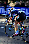 Chloe Dygert (USA) chases in 2nd place on the first circuit of Harrogate during the Women Elite Road Race of the UCI World Championships 2019 running 149.4km from Bradford to Harrogate, England. 28th September 2019.<br /> Picture: Andy Brady | Cyclefile<br /> <br /> All photos usage must carry mandatory copyright credit (© Cyclefile | Andy Brady)