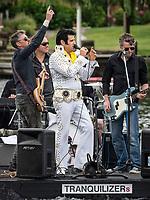 Henley Royal Regatta, Henley on Thames, Oxfordshire, 28 June - 2 July 2017.  Wednesday  14:38:22   28/06/2017  [Mandatory Credit/Intersport Images]<br /> <br /> Rowing, Henley Reach, Henley Royal Regatta.<br /> Elvis Presley lives again