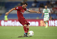 Football, Serie A: AS Roma - Sassuolo, Olympic stadium, Rome, September 15, 2019. <br /> Roma's captain Alessandro Florenzi in action during the Italian Serie A football match between Roma and Sassuolo at Olympic stadium in Rome, on September 15, 2019.<br /> UPDATE IMAGES PRESS/Isabella Bonotto