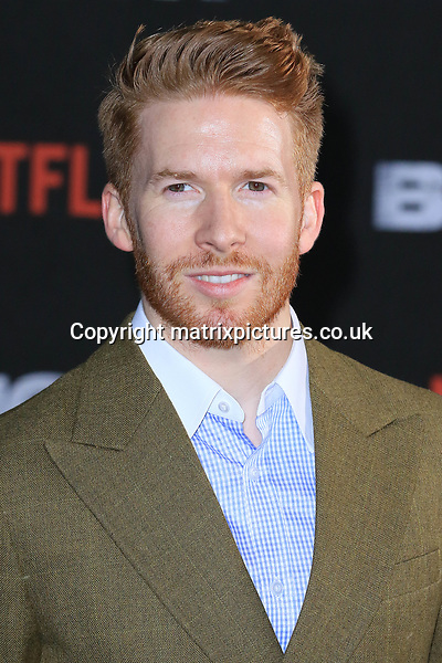 NON EXCLUSIVE PICTURE: MATRIXPICTURES.CO.UK<br /> PLEASE CREDIT ALL USES<br /> <br /> WORLD RIGHTS<br /> <br /> Neil Jones attending the UK premiere of Netflix's 'Bright', held on London's Southbank.<br /> <br /> DECEMBER 15th 2017<br /> <br /> REF: MES 172875
