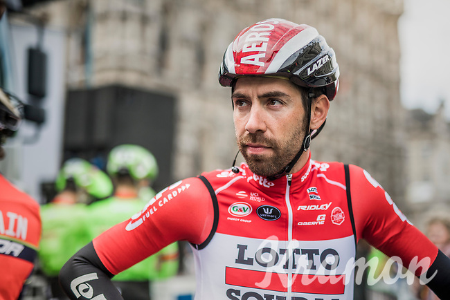 Thomas de Gendt (BEL/Lotto-Soudal) at the start in Leuven<br /> <br /> 57th Brabantse Pijl - La Fl&egrave;che Braban&ccedil;onne (1.HC)<br /> 1 Day Race: Leuven &rsaquo; Overijse (197km)