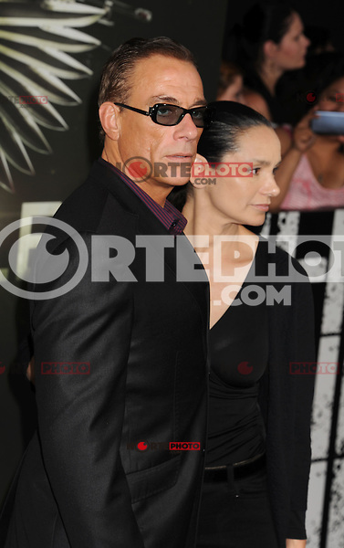 HOLLYWOOD, CA - AUGUST 15: Jean-Claude Van Damme and Gladys Portugues arrive at the 'The Expendables 2' - Los Angeles Premiere at Grauman's Chinese Theatre on August 15, 2012 in Hollywood, California. /NortePhoto.com<br />