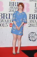 Alice Levine arrives for the BRIT Awards 2015 at the O2 Arena, London. 25/02/2015 Picture by: Steve Vas / Featureflash