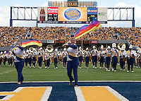 September 4, 2010: WVU Band and Color Guard. The West Virginia Mountaineers defeated the Coastal Carolina Chanticleers 31-0 on September 4, 2010 at Mountaineer Field, Morgantown, West Virginia.