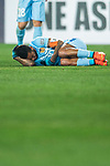 Jiangsu FC Forward Alex Teixeira lies injured during the AFC Champions League 2017 Group H match between Jiangsu FC (CHN) vs Adelaide United (AUS) at the Nanjing Olympics Sports Center on 01 March 2017 in Nanjing, China. Photo by Marcio Rodrigo Machado / Power Sport Images