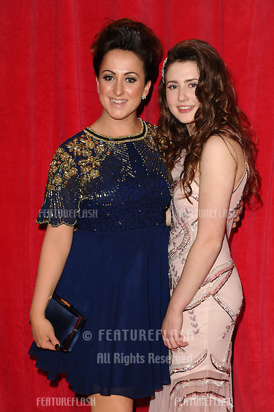 Jasmine Armfield and Natalie Cassidy arriving for the 2014 British Soap Awards, at the Hackney Empire, London. 24/05/2014 Picture by: Steve Vas / Featureflash
