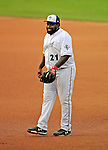 5 September 2008: Washington Nationals first baseman Dmitri Young, playing with the Vermont Lake Monsters during the final week of the New York-Penn League season, in action against the Oneonta Tigers at Centennial Field in Burlington, Vermont. On a rehab assignment, Young was the first current Major League player to rehab with Vermont in its 15-year history. The Lake Monsters fell to the Tigers 10-4. Mandatory Photo Credit: Ed Wolfstein Photo