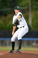 Jamestown Jammers pitcher Tyler Eppler (36) delivers a pitch during a game against the Vermont Lake Monsters on July 12, 2014 at Russell Diethrick Park in Jamestown, New York.  Jamestown defeated Vermont 3-2.  (Mike Janes/Four Seam Images)
