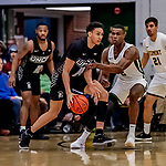 18 December 2019: University of North Carolina Greensboro Spartan Forward Kyrin Galloway, a Senior from Milton, GA, in first half action against the University of Vermont Catamounts at Patrick Gymnasium in Burlington, Vermont. The Spartans edged out the Catamounts 54-53 in the final minutes of play. Mandatory Credit: Ed Wolfstein Photo *** RAW (NEF) Image File Available ***