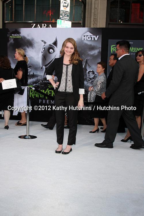 "LOS ANGELES - SEP 24:  Kerris Dorsey arrives at the ""Frankenweenie"" Premiere at El Capitan Theater on September 24, 2012 in Los Angeles, CA"