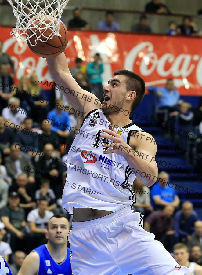 Kosarka ABA League season 2014-2015<br /> Partizan v Zadar<br /> Bozo Djumic<br /> Beograd, 15.03.2015.<br /> foto: Srdjan Stevanovic/Starsportphoto&copy;