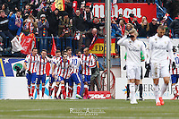Real Madrid´s players celebrating a goal of Tiago