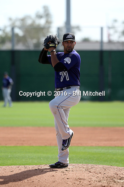 Antonio Senzatela - Colorado Rockies 2016 spring training (Bill Mitchell)