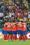 South Korea team group (KOR),<br /> JUNE 22, 2014 - Football / Soccer :<br /> South Korea players make a circle before the second half during the FIFA World Cup Brazil 2014 Group H match between South Korea 2-4 Algeria at Estadio Beira-Rio in Porto Alegre, Brazil. (Photo by SONG Seak-In/AFLO)