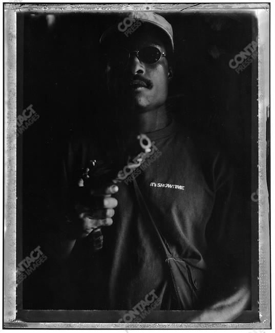 """Tyson"" Raskols, gangs of Port Moresby, Papua New Guinea, January 2004"
