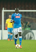 Napoli's Kalidou Koulibaly  during the Europa  League Group D soccer match between SSC Napoli and Midtjylland at the San Paolo  Stadium in NaplesNovember 05, 2015
