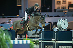 Kevin Staut of France riding on Aran competes during the EEM Trophy, part of the Longines Masters of Hong Kong on 10 February 2017 at the Asia World Expo in Hong Kong, China. Photo by Juan Serrano / Power Sport Images