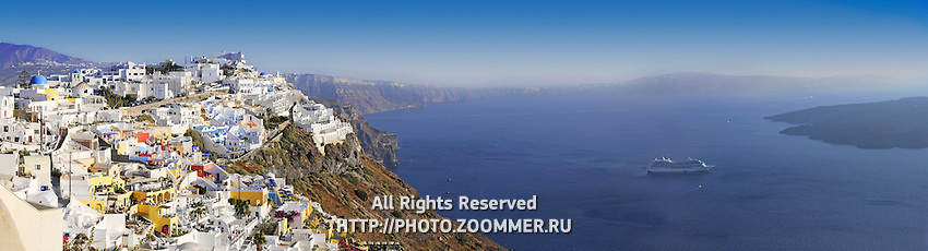 Panorama of Fira, Santorini, Greece