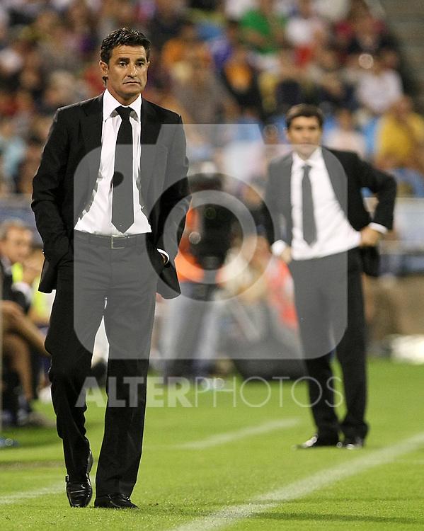 Gatafe's coach Michel Gonzalez during La Liga match. September 27 2009. (ALTERPHOTOS/Acero).