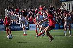 KANSAS CITY, MO - DECEMBER 02: Jada Scott (28) of the University of Central Missouri ties the game on a penalty attempt with under a minute to play during the Division II Women's Soccer Championship held at the Swope Soccer Village on December 2, 2017 in Kansas City, Missouri. (Photo by Doug Stroud/NCAA Photos/NCAA Photos via Getty Images)