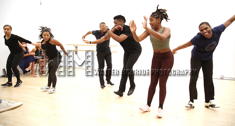 "Dancers During the Open Rehearsal for the Miami New Drama's World Premiere Musical  ""A Wonderful World"" at the Ripley-Grier Studios on January 26, 2020 in New York City."