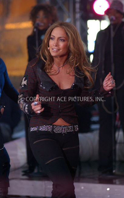 WWW.ACEPIXS.COM . . . . . ....NEW YORK, MARCH 3, 2005....Jennifer Lopez performs on The Today Show to promote her new album 'Rebirth.'....Please byline: KRISTIN CALLAHAN - ACE PICTURES.. . . . . . ..Ace Pictures, Inc:  ..Philip Vaughan (646) 769-0430..e-mail: info@acepixs.com..web: http://www.acepixs.com