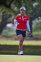 Sei Young Kim (KOR) sinks her putt on 1 during round 1 of the 2019 US Women's Open, Charleston Country Club, Charleston, South Carolina,  USA. 5/30/2019.<br /> Picture: Golffile | Ken Murray<br /> <br /> All photo usage must carry mandatory copyright credit (© Golffile | Ken Murray)