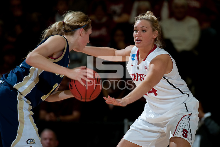 STANFORD, CA - MARCH 19, 2011: Joslyn Tinkle at Maples Pavilion, March 19, 2010 in Stanford, California.