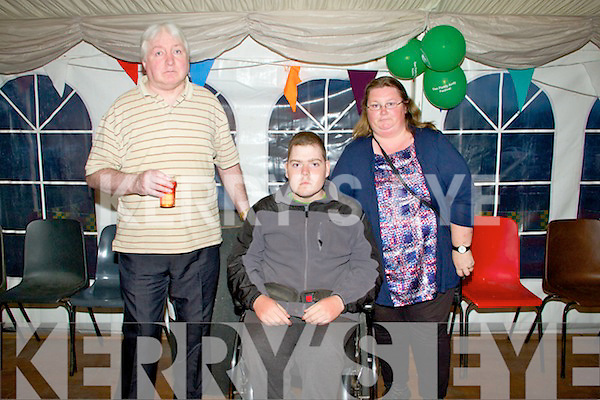 Pictured at the Official opening of the Dan Paddy Andy Festival on Saturday night were L-R: Gerard Connell, Mikey and Patricia Linehan, Lyreacrompane.