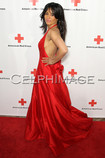 "BARONESS KIMBERLY MOORE. Red carpet arrivals to the annual ""Red Tie Affair,"" benefitting the American Red Cross of Santa Monica, and honoring the humanitarian spirit of those who have shown courage, unselfish character and whose work has saved lives. At the Fairmont Miramar. Santa Monica, CA, USA. April 17, 2010."