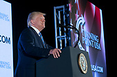 United States President Donald J. Trump makes remarks at Turning Point USA's Teen Student Action Summit 2019 in Washington, DC on July 23, 2019. <br /> Credit: Chris Kleponis / Pool via CNP