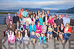 Teresa O'Connell seated front fifth from left from Glenmore, Waterville celebrated her 80th birthday with family and friends at the Waterville Lake Hotel on Saturday night last.