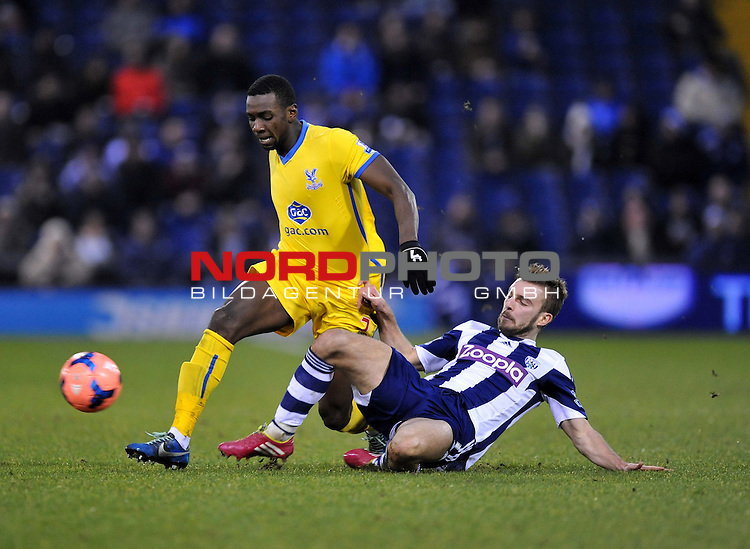 West Bromwich Albion's Gareth McAuley tackles Crystal Palace's Joel Ward -  04/01/2014 - SPORT - FOOTBALL - West Bromwich - The Hawthorns - West Brom v Crystal Palace - FA Cup - Third Round<br /> Foto nph / Meredith<br /> <br /> ***** OUT OF UK *****