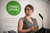 Clare Sutcliffe, Co-Founder and CEO of Code Club.  Code Club event, Level39, Canary Wharf.