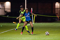 Kansas City, MO - Saturday June 17, 2017: Carson Pickett, Shea Groom during a regular season National Women's Soccer League (NWSL) match between FC Kansas City and the Seattle Reign FC at Children's Mercy Victory Field.