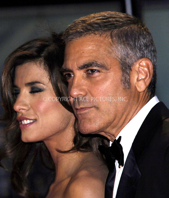 WWW.ACEPIXS.COM . . . . .  ..... . . . . US SALES ONLY . . . . .....Elisabetta Canalis and George Clooney at Fantastic Mr Fox premiere on the opening night of The Times BFI London Film Festival - 14 October 2009  in London....Please byline: FAMOUS-ACE PICTURES... . . . .  ....Ace Pictures, Inc:  ..tel: (212) 243 8787 or (646) 769 0430..e-mail: info@acepixs.com..web: http://www.acepixs.com
