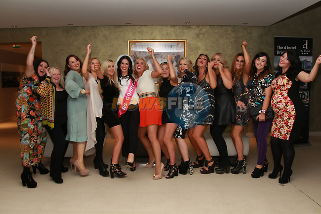 Aiding Byrne hen in the d hotel with friends..Picture: Fran Caffrey/www.newsfile.ie.