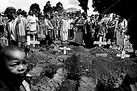 A child's funeral in Kibera. Diarrhoea, typhoid and dysentery are rampant in the slum, with child death rates running at almost four times the average for Nairobi.