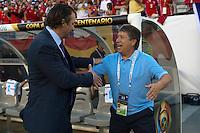Action photo during the match Chile vs Panama, Corresponding to Group -D- America Cup Centenary 2016 at Lincoln Financial Field.<br /> <br /> Foto de accion durante el partido Chile vs Panama, Correspondiente al Grupo -D- de la Copa America Centenario 2016 en el  Lincoln Financial Field, en la foto: (i-d) Juan Antonio Pizzi DT de Chile y Hernan Dario Gomez DT de Panam<br /> <br /> <br /> 14/06/2016/MEXSPORT/Osvaldo Aguilar.