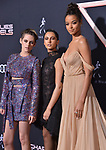 "Kristen Stewart, Naomi Scott, Ella Balinska 126 attends the premiere of Columbia Pictures' ""Charlie's Angels"" at Westwood Regency Theater on November 11, 2019 in Los Angeles, California."