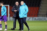 Barnet manager John Still has some words to say about an unsporting Maidstone assistant during Barnet vs Maidstone United , Vanarama National League Football at the Hive Stadium on 3rd November 2018