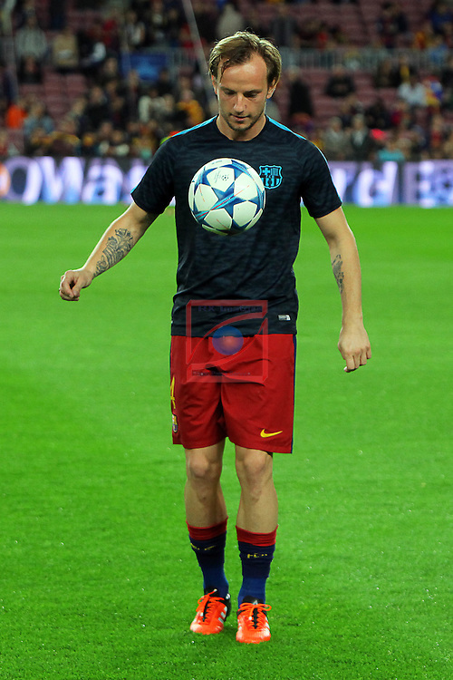 UEFA Champions League 2015-2016. Matchday 4.<br /> FC Barcelona vs FC BATE Borisov: 3-0.<br /> Ivan Rakitic.
