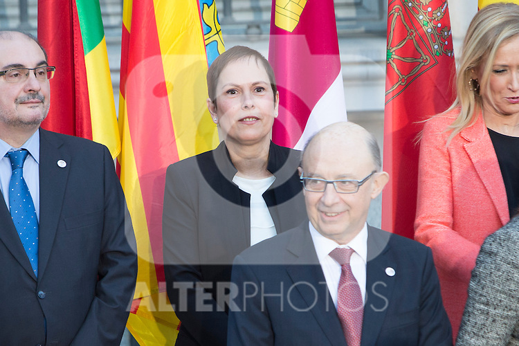 Uxue Barkos, president os Navarra at the meeting with the Presidents of 17 autonomous governments at the Senate in Madrid, January  17, 2017. (ALTERPHOTOS/Rodrigo Jimenez)