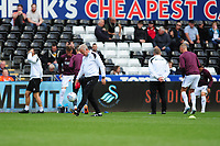 Alan Curtis, assistant coach for Swansea during the pre-match warm-up of the Sky Bet Championship match between Swansea City and Nottingham Forest at the Liberty Stadium, in Swansea, Wales, UK. Saturday 15 September 2018