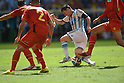 Lionel Messi (ARG),<br /> JULY 5, 2014 - Football / Soccer :<br /> Lionel Messi of Argentina is fouled during the FIFA World Cup Brazil 2014 Quarter-finals match between Argentina 1-0 Belgium at Estadio Nacional in Brasilia, Brazil. (Photo by FAR EAST PRESS/AFLO)