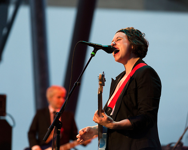 Raleigh, North Carolina- August 11, 2017<br /> <br /> Allison Crutchfield of Waxahatchee. <br /> <br /> Ex Hex and Waxahatchee played an outdoor concert with MERGE Records label mates Superchunk at the North Carolina Museum of Art. (Photo by Jeremy M. Lange for The New York Times)