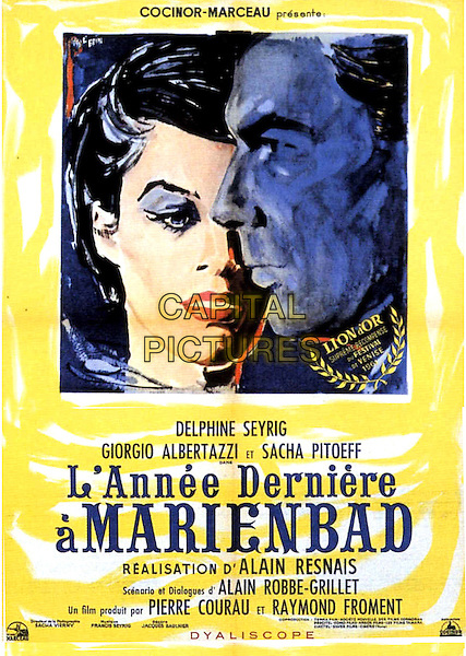 ORIGINAL FRENCH POSTER ART<br /> in Last Year at Marienbad (1961) <br /> (L'annee derniere a Marienbad)<br /> *Filmstill - Editorial Use Only*<br /> CAP/FB<br /> Image supplied by Capital Pictures