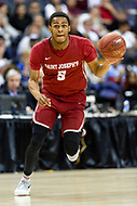Washington, DC - MAR 10, 2018: Saint Joseph's Hawks guard Nick Robinson (5) brings the ball up court during semi final match up of the Atlantic 10 men's basketball championship between Saint Joseph's and Rhode Island at the Capital One Arena in Washington, DC. (Photo by Phil Peters/Media Images International)