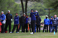 Francesco Laporta (ITA) on the 16th tee during Round 4 of the Challenge Tour Grand Final 2019 at Club de Golf Alcanada, Port d'Alcúdia, Mallorca, Spain on Sunday 10th November 2019.<br /> Picture:  Thos Caffrey / Golffile<br /> <br /> All photo usage must carry mandatory copyright credit (© Golffile | Thos Caffrey)
